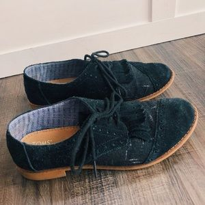 Toms Brown Leather Loafers
